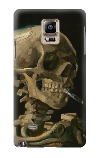Printed Vincent Van Gogh Head Skeleton Cigarette Samsung Note 4 Case