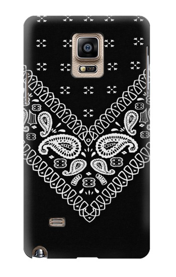 Printed Bandana Black Pattern Samsung Note 4 Case