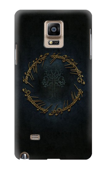Printed Lord of The Rings Ring Elf Writing Samsung Note 4 Case