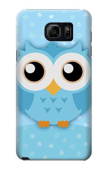 Printed Cute Blue Owl Samsung Note 5 Case
