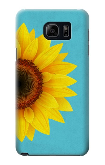 Printed Vintage Sunflower Blue Samsung Note 5 Case