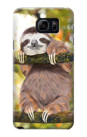 Printed Cute Baby Sloth Paint Samsung Note 5 Case