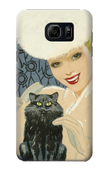Printed Beautiful Lady With Black Cat Samsung Note 5 Case