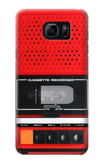 Printed Red Cassette Recorder Graphic Samsung Note 5 Case
