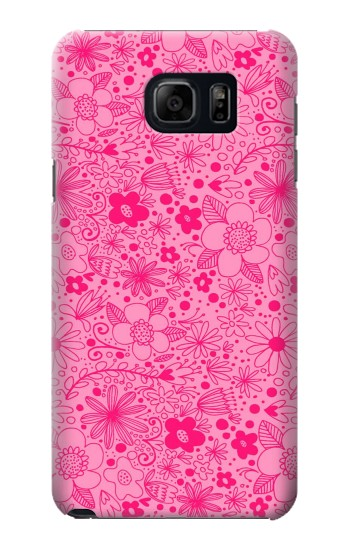 Printed Pink Flower Pattern Samsung Note 5 Case