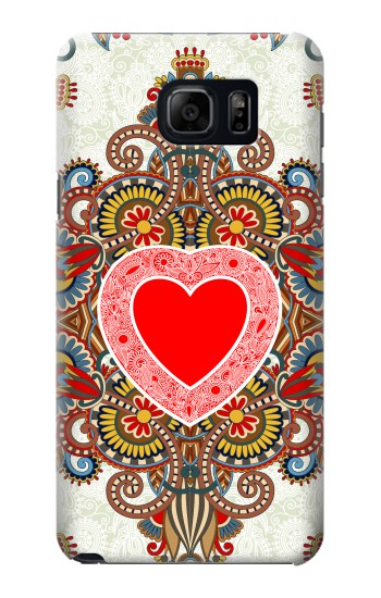 Printed Heart Pattern Line Art Samsung Note 5 Case