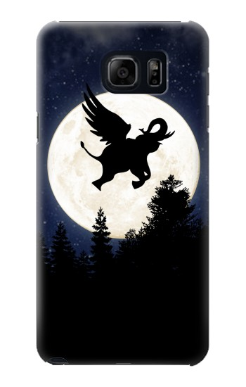 Printed Flying Elephant Full Moon Night Samsung Note 5 Case