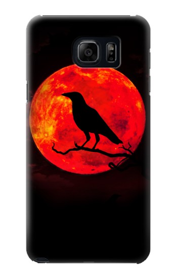 Printed Crow Red Moon Samsung Note 5 Case