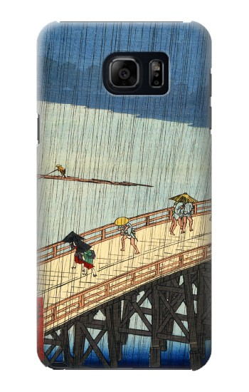 Printed Utagawa Hiroshige Sudden shower over Shin Oashi bridge and Atake Samsung Note 5 Case