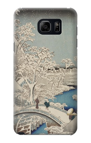 Printed Utagawa Hiroshige The Drum Bridge at Yuhi Hill in Meguro Samsung Note 5 Case