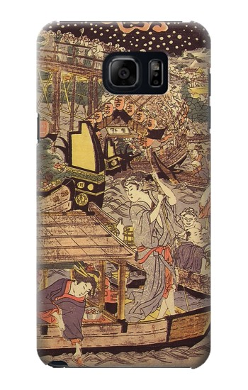 Printed Utagawa Kuniyasu Fireworks at Ryogoku Bridge Samsung Note 5 Case