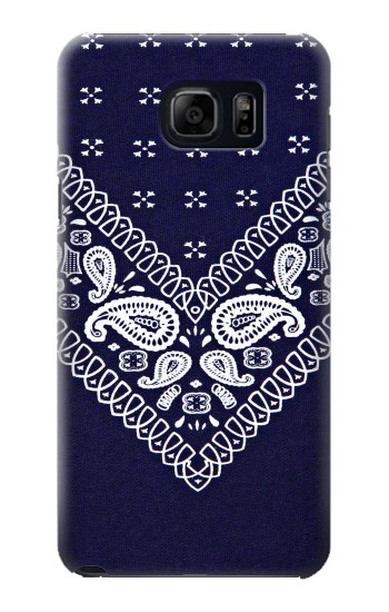 Printed Navy Blue Bandana Pattern Samsung Note 5 Case