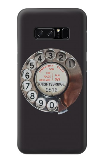 Printed Retro Rotary Phone Dial On HTC Desire 320 Case