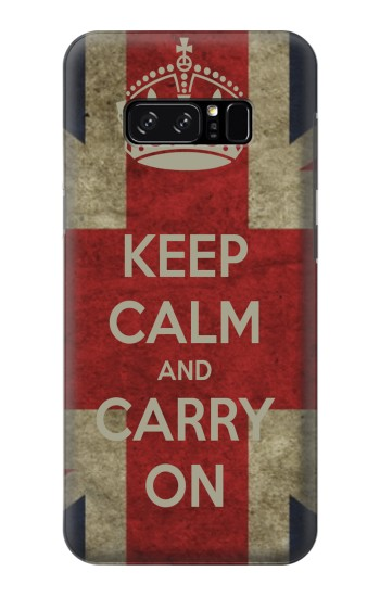 Printed Keep Calm and Carry On HTC Desire 320 Case