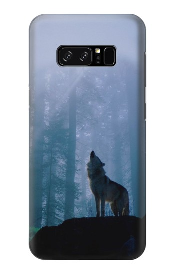 Printed Wolf Howling in Forest HTC Desire 320 Case