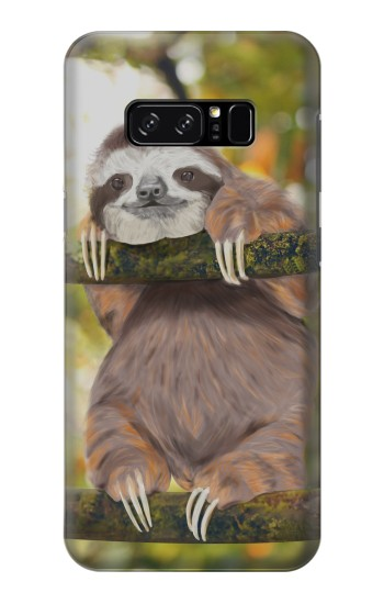 Printed Cute Baby Sloth Paint HTC Desire 320 Case