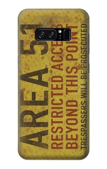 Printed Area 51 Restricted Access Warning Sign HTC Desire 320 Case