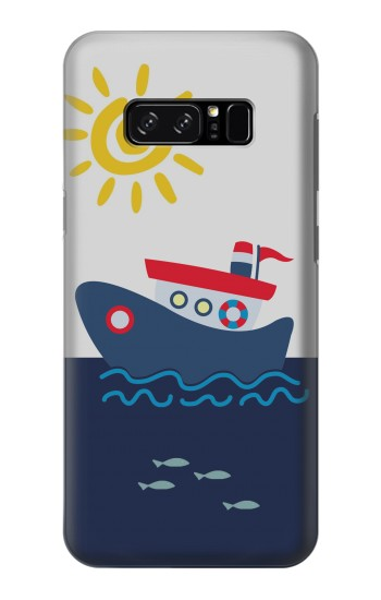Printed Cartoon Fishing Boat HTC Desire 320 Case