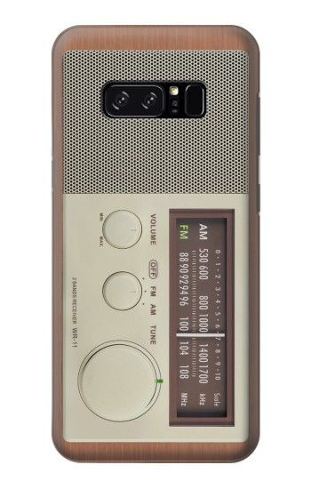 Printed FM AM Wooden Receiver Graphic HTC Desire 320 Case