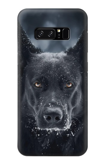 Printed German Shepherd Black Dog HTC Desire 320 Case