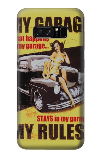 Printed My Garage Pinup Girl HTC Desire 320 Case
