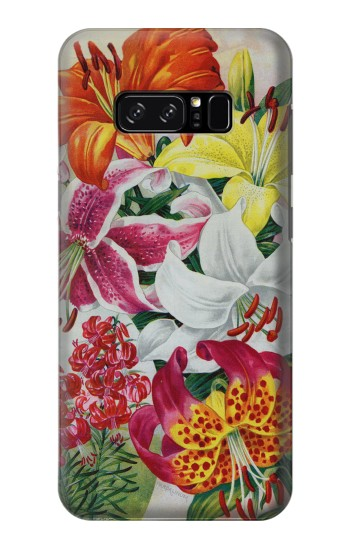 Printed Retro Art Flowers HTC Desire 320 Case