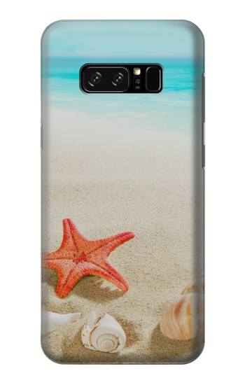 Printed Sea Shells Starfish Beach HTC Desire 320 Case