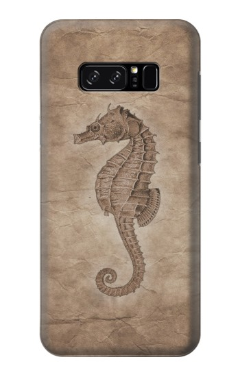 Printed Seahorse Old Paper HTC Desire 320 Case