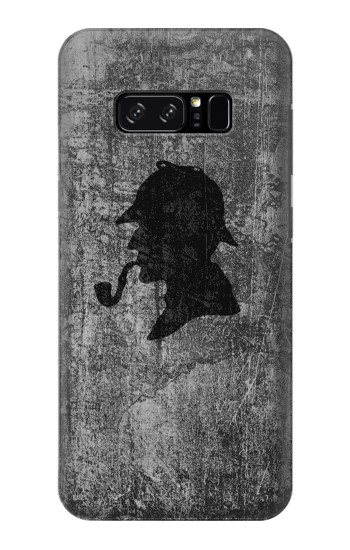 Printed Sherlock Holmes Silhouette HTC Desire 320 Case