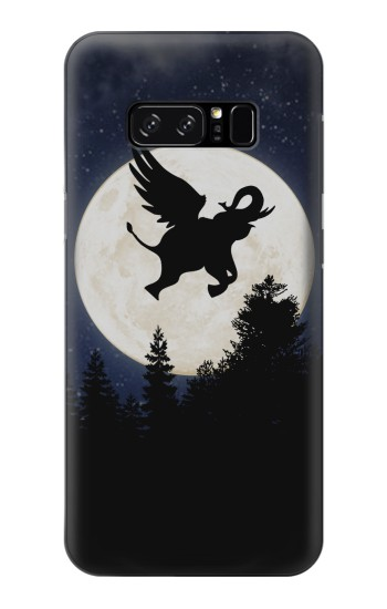 Printed Flying Elephant Full Moon Night HTC Desire 320 Case