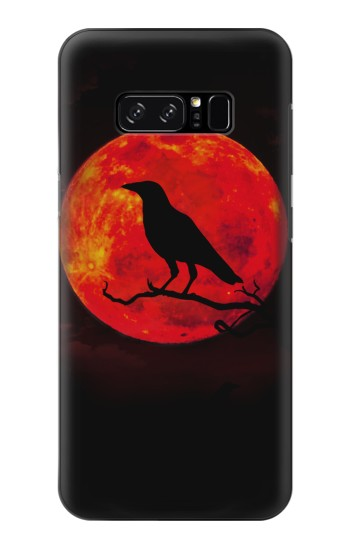 Printed Crow Red Moon HTC Desire 320 Case