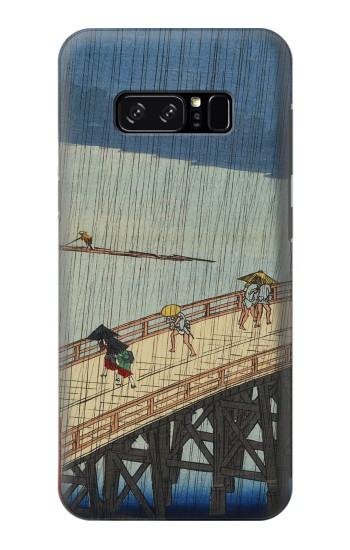 Printed Utagawa Hiroshige Sudden shower over Shin Oashi bridge and Atake HTC Desire 320 Case