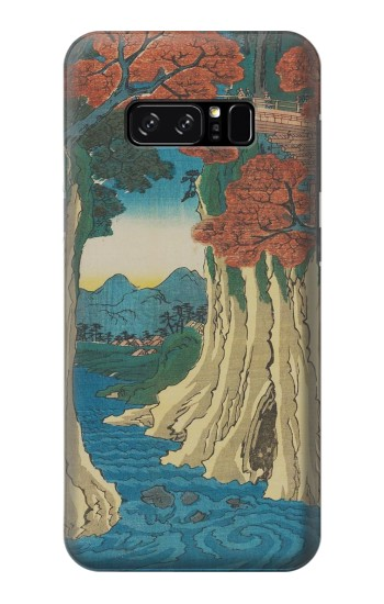 Printed Utagawa Hiroshige The Monkey Bridge in Kai Province HTC Desire 320 Case