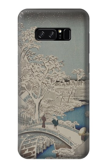 Printed Utagawa Hiroshige The Drum Bridge at Yuhi Hill in Meguro HTC Desire 320 Case