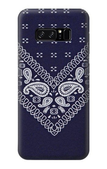 Printed Navy Blue Bandana Pattern HTC Desire 320 Case