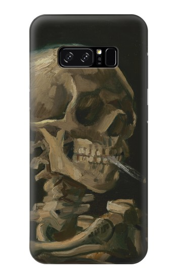 Printed Vincent Van Gogh Head Skeleton Cigarette HTC Desire 320 Case
