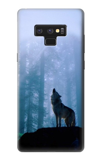 Printed Wolf Howling in Forest Samsung Note9 Case
