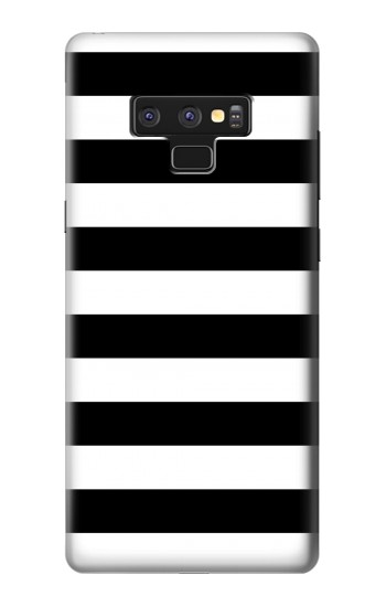 Printed Black and White Striped Samsung Note9 Case