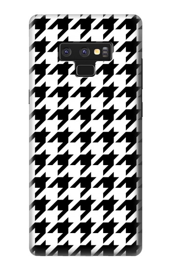 Printed Black White Houndstooth Monogram Pattern Samsung Note9 Case