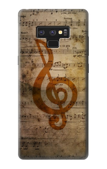 Printed Sheet Music Notes Samsung Note9 Case