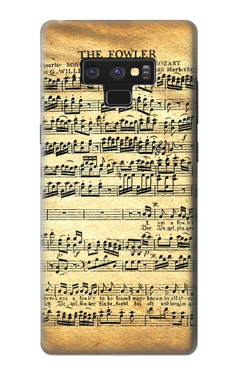 Printed The Fowler Mozart Music Sheet Samsung Note9 Case