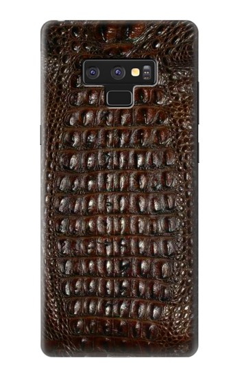 Samsung Galaxy Note9 Brown Skin Alligator Graphic Printed Case Cover