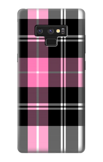 Printed Pink Plaid Pattern Samsung Note9 Case