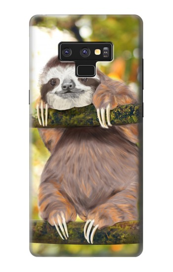 Printed Cute Baby Sloth Paint Samsung Note9 Case