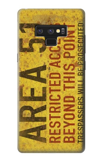 Printed Area 51 Restricted Access Warning Sign Samsung Note9 Case