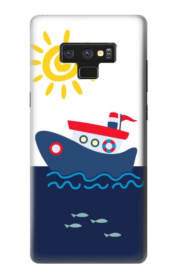 Printed Cartoon Fishing Boat Samsung Note9 Case