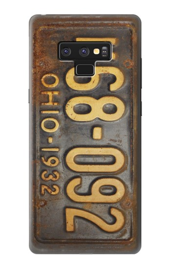 Printed Vintage Car License Plate Samsung Note9 Case