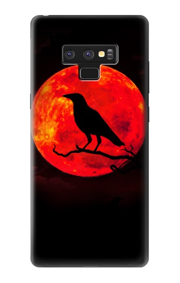 Printed Crow Red Moon Samsung Note9 Case