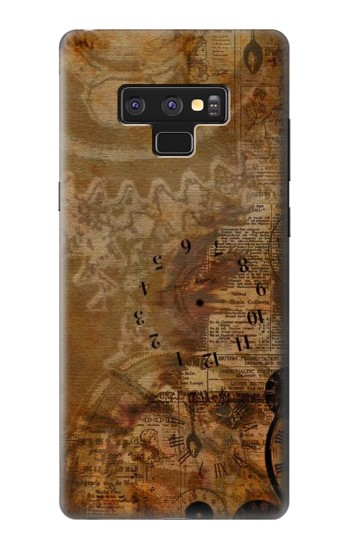 Printed Vintage Paper Clock Steampunk Samsung Note9 Case