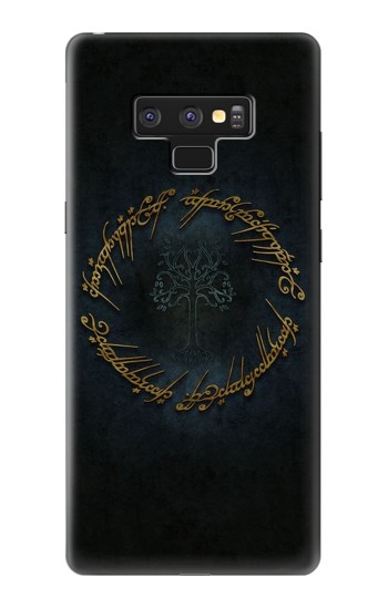 Printed Lord of The Rings Ring Elf Writing Samsung Note9 Case